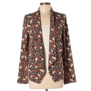 Lush Light Weight Animal Print Blazer